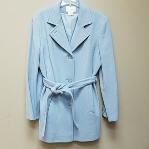 Baby Blue Wool Coat